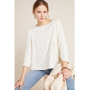 nwt maeve anthro ivory dottie embroidered blouse